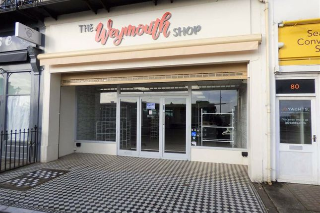 Retail premises for sale in The Esplanade, Weymouth
