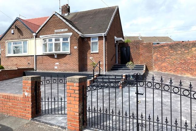 Thumbnail Semi-detached bungalow for sale in Courtney Drive, Silksworth, Sunderland