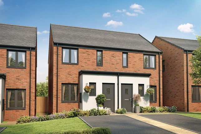 "Thumbnail Semi-detached house for sale in ""The Alnwick"" at Church Road, Old St. Mellons, Cardiff"
