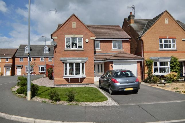 Thumbnail Detached house for sale in Hampton Close, Coalville, Leicestershire