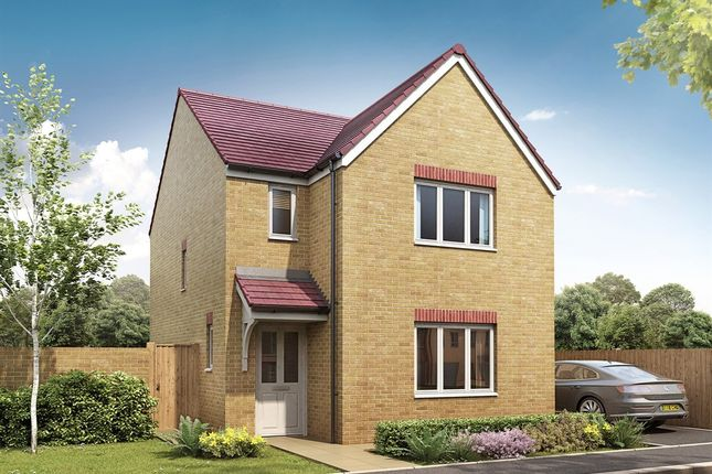 "Thumbnail Detached house for sale in ""The Hatfield"" at Bridgend Road, Bryncae, Llanharan, Pontyclun"