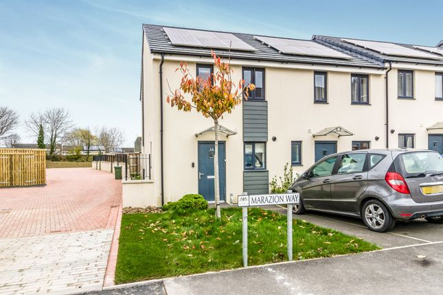 Thumbnail End terrace house for sale in Marazion Way, Plymouth