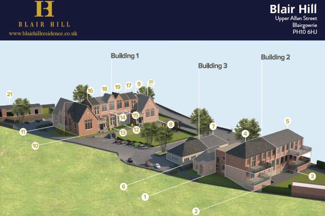 Thumbnail Property for sale in Blair Hill, Home 6, Upper Allan Street, Blairgowrie, Perthshire