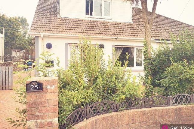 Thumbnail Semi-detached bungalow for sale in Penylan, Bridgend