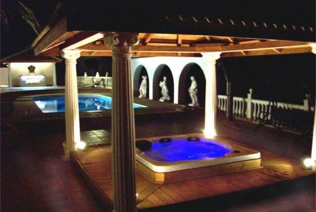 Pool & Jacuzzi By Night