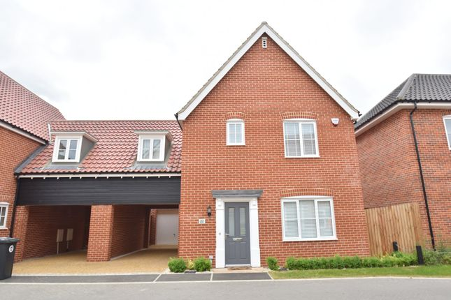 Thumbnail Link-detached house for sale in Foundry Close, Glemsford, Sudbury