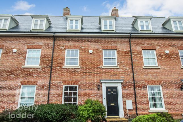 Thumbnail Town house for sale in Lord Nelson Drive, New Costessey, Norwich