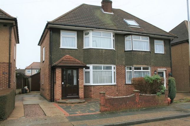 Thumbnail Semi-detached house to rent in Essex Close, Romford