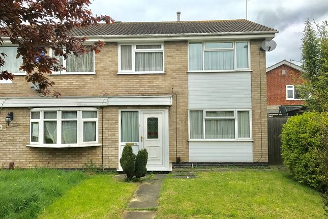 Thumbnail Semi-detached house for sale in Somerfield Walk, Leicester