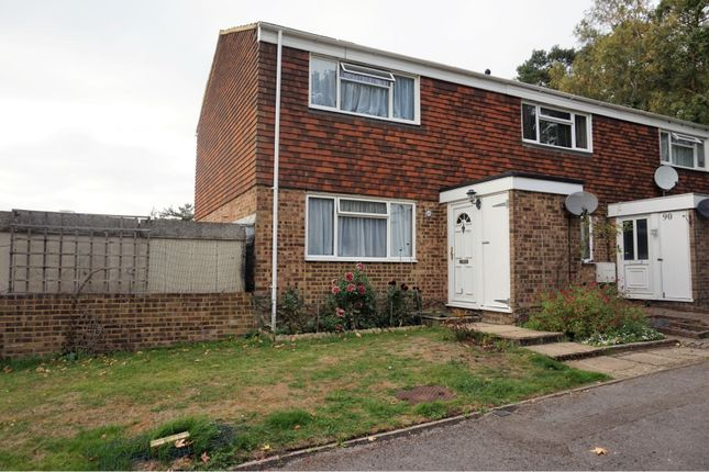 Thumbnail End terrace house for sale in Pinewood Park, Farnborough