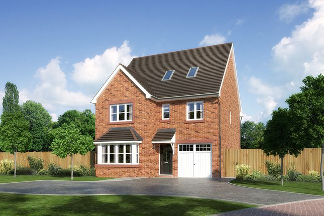 "Thumbnail Detached house for sale in ""Longrush"" at Palladian Gardens, Hooton Road, Hooton, Wirral"