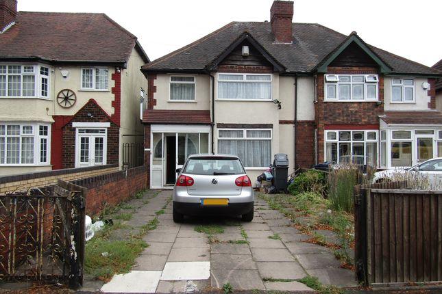 Thumbnail Semi-detached house to rent in Alum Rock Road, Alum Rock, Birmingham