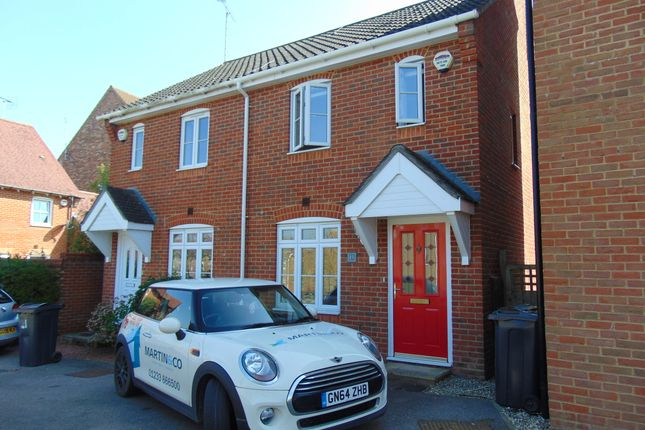 Thumbnail Semi-detached house to rent in Blue Field, Singleton, Ashford