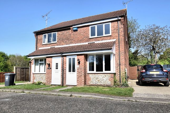Thumbnail Semi-detached house for sale in Swann Grove, Holt