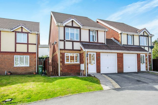 Thumbnail Semi-detached house for sale in North Rising, Pontlottyn, Bargoed