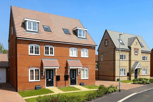 """Thumbnail Semi-detached house for sale in """"Helmsley"""" at Bearscroft Lane, London Road, Godmanchester, Huntingdon"""