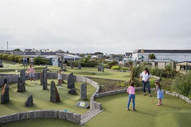 Mini Golf Area of Perran Sands, Perranporth, Cornwall TR6