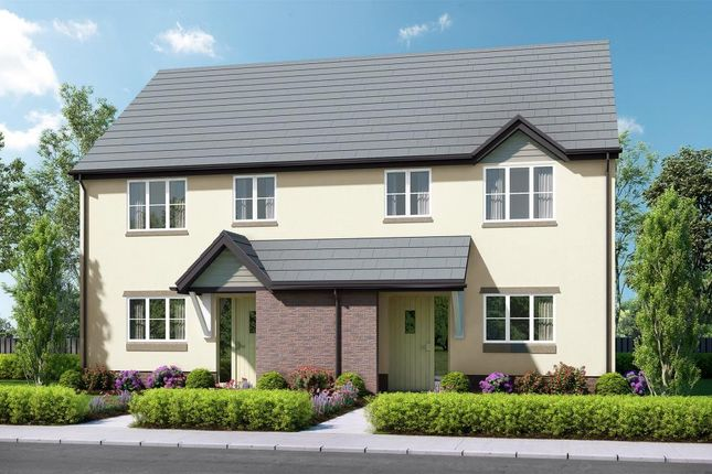 Thumbnail End terrace house for sale in Abbeyford Vale, Crediton Road, Okehampton, Devon