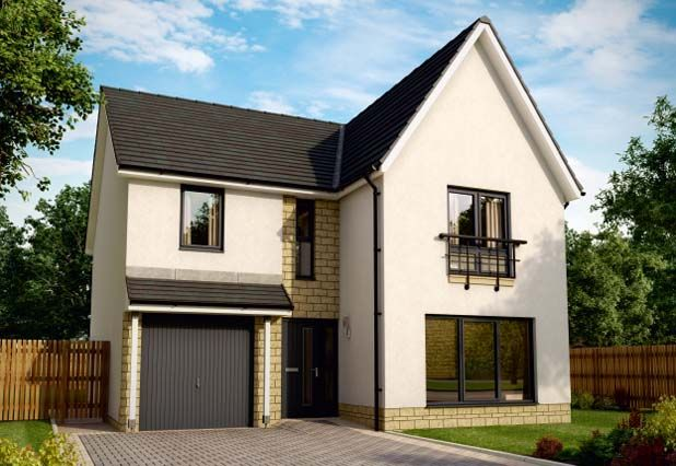 "Thumbnail Detached house for sale in ""Azure Almondell"" at Ochiltree Drive, Mid Calder, Livingston"