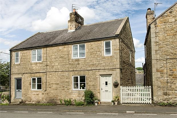 Thumbnail Semi-detached house for sale in Front Street, Barrasford, Northumberland.