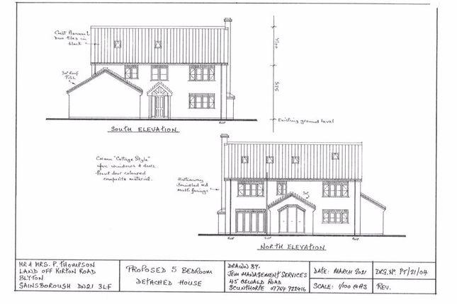 Thumbnail Detached house for sale in Kirton Road, Blyton, Gainsborough