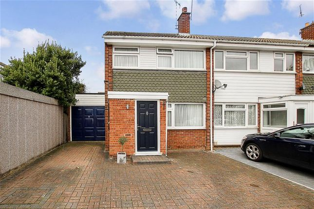Thumbnail End terrace house for sale in Lilac Close, Pilgrims Hatch, Brentwood, Essex
