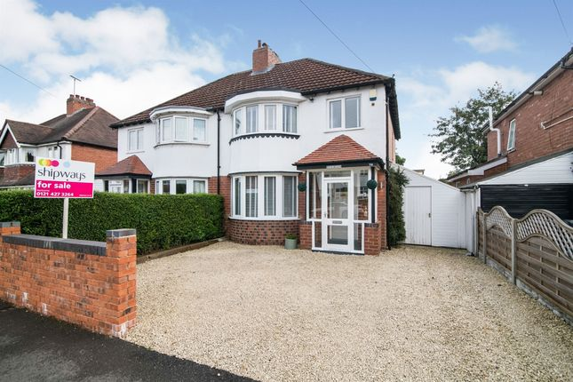 Thumbnail Semi-detached house for sale in Meadowfield Road, Rubery, Birmingham