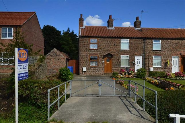 Thumbnail End terrace house to rent in Bridlington Road, Beeford, East Yorkshire