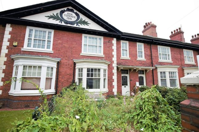 Thumbnail Town house for sale in Newcastle Road, Leek, Staffordshire