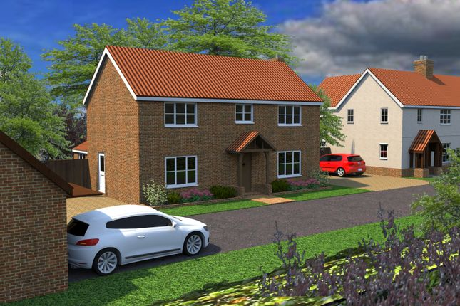 Thumbnail Detached house for sale in The Paddocks, Litle Hill, Great Bricett, Ipswich, Suffolk