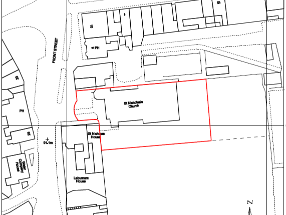Thumbnail Land for sale in Former St. Nicholas Church, Front Street, Hetton-Le-Hole, Hetton-Le-Hole