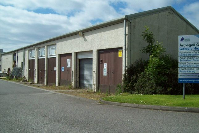 Thumbnail Light industrial for sale in Units 1, 2, 4, 5, 6 Golspie Industrial Estate, Golspie