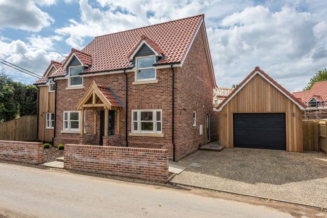 Thumbnail Detached house for sale in The Poplars, Carvers Lane, Attleborough