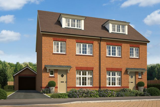 "Thumbnail Semi-detached house for sale in ""Lincoln"" at Ferard Corner, Warfield, Bracknell"