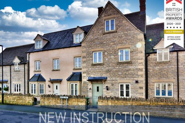 Thumbnail Terraced house to rent in Moss Way, Cirencester
