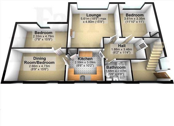 Floor Plan of Greenwood Court, Carnforth LA5