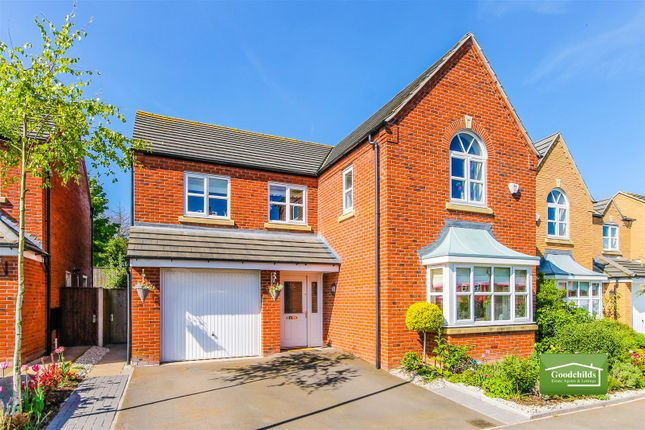 Thumbnail Detached house for sale in Shire Oak Close, Walsall Wood