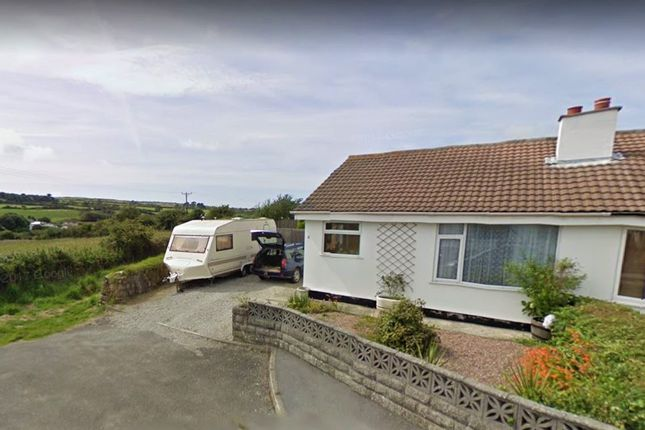 Thumbnail Semi-detached bungalow for sale in Chyrose Road, St Day, Redruth, Cornwall.