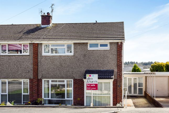 Thumbnail Semi-detached house for sale in Maes Y Rhedyn, Talbot Green, Pontyclun