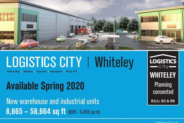 Thumbnail Warehouse to let in Logistics City Whiteley, Fulcrum 6, Solent Way, Whiteley, Fareham, Hampshire