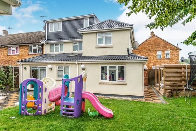 Thumbnail End terrace house for sale in Braintree Close, Luton
