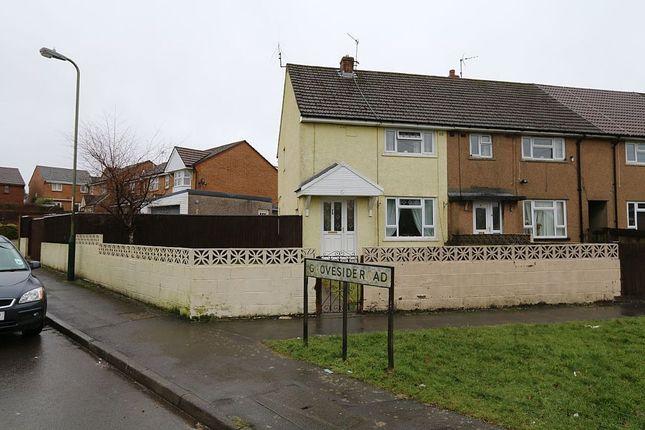 Thumbnail End terrace house for sale in Groveside Road, Oakdale, Blackwood, Caerffili