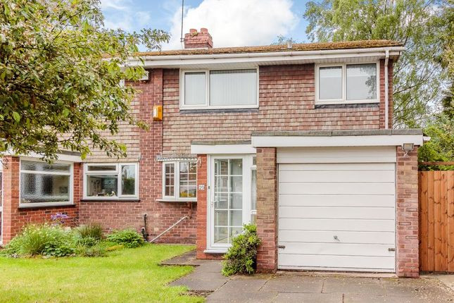 Thumbnail Semi-detached house for sale in Hornbrook Grove, Solihull