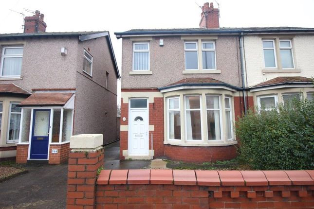 Thumbnail Semi-detached house to rent in Hawes Side Lane, Blackpool
