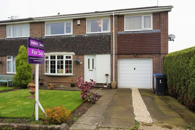 Thumbnail Semi-detached house for sale in Thorneyford Place, Ponteland