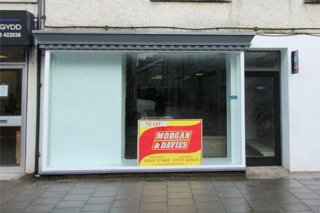 Commercial property for sale in Bridge Street, Lampeter, Ceredigion