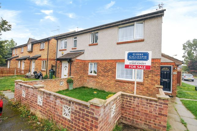 Thumbnail End terrace house for sale in Rabournmead Drive, Northolt, Middlesex