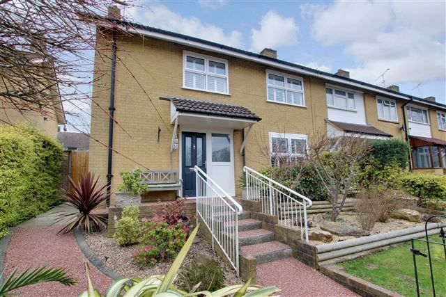 Thumbnail End terrace house for sale in Wakehurst Drive, Southgate, Crawley