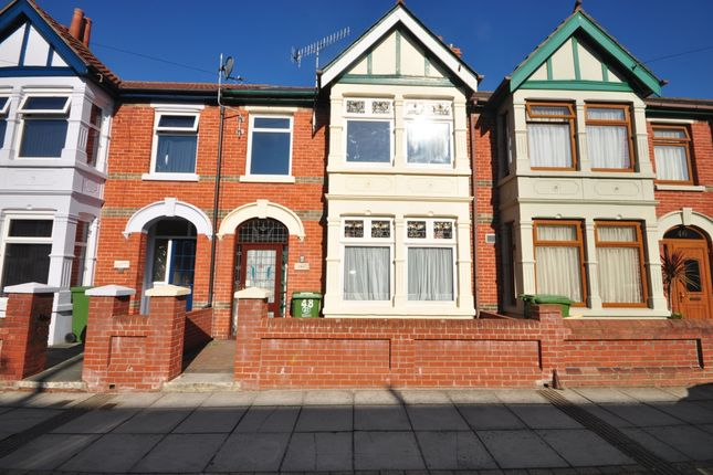 Thumbnail Terraced house to rent in Highgrove Road, Portsmouth
