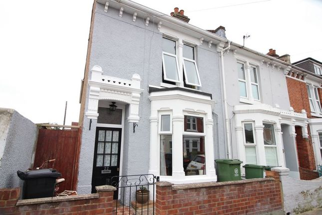 Thumbnail End terrace house to rent in Clegg Road, Southsea